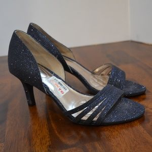 NWT Alfani Sparkle blue Strappy Heel size 7.5 New